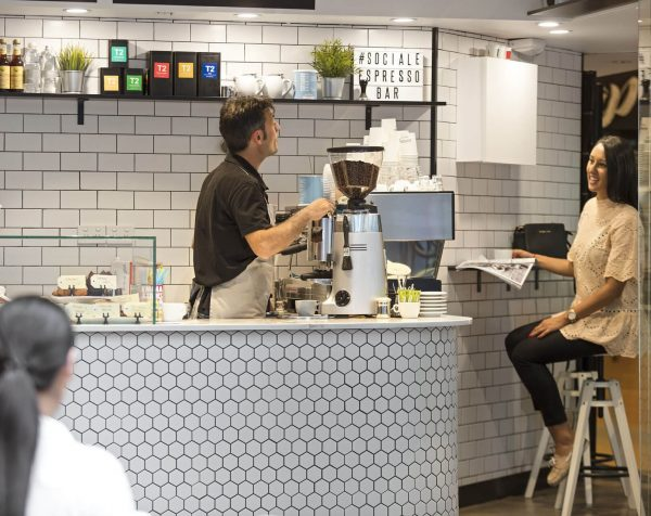 Cafe at Exchange Tower serviced offices Melbourne