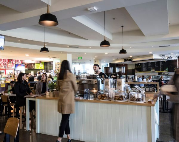 Food court at St Kilda Road Towers serviced offices Melbourne