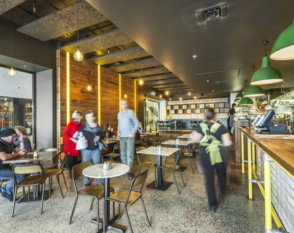 Cafe at Peninsula On The Bay serviced offices Frankston