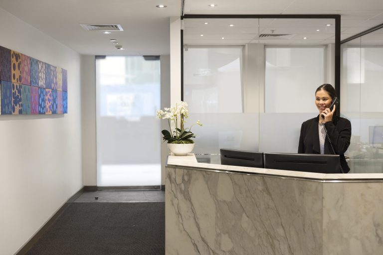 Virtual Office Reception at 480 Collins Street, Melbourne
